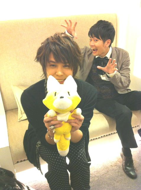 "Jun Fukuyama and Mamoru Miyano on their ""date"" on Valentines day! LOL! XD <3"