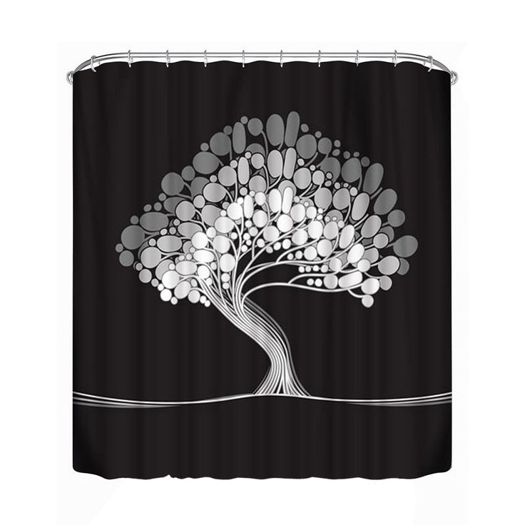 Big Tree Printed Bath Curtain Bathroom Shower Curtain Bathroom Decoration Waterproof Large Curtain Divider  (1#)(180*180cm)  #Affiliate