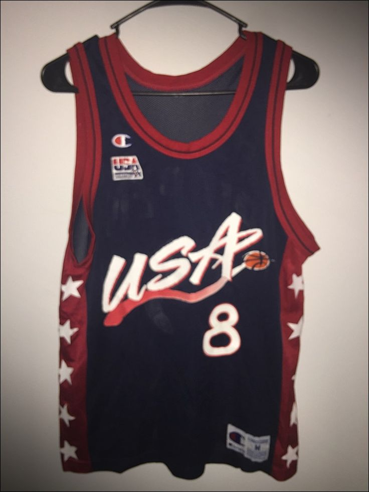 Vintage 90's Champion USA Dream Team Scottie Pippen Olympic Basketball Jersey…