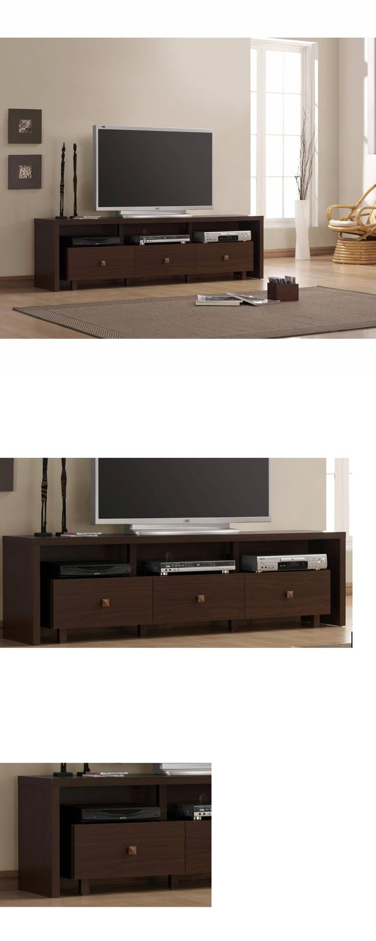 Entertainment units tv stands modern tv stand entertainment media center home theater console wood furniture buy it now only 140 99 on ebay