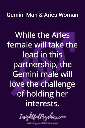 Aries woman dating gemini man