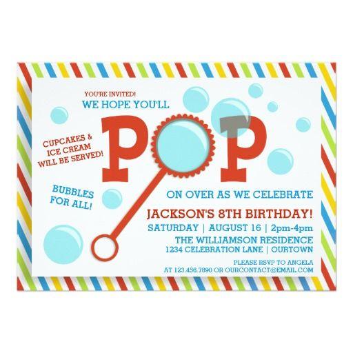 Bubble invitations birthday magglebrooks boys bubble party birthday invitation filmwisefo