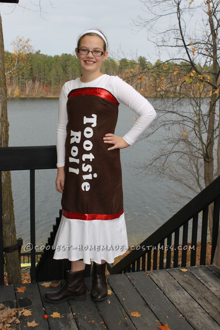 Easy Tootsie Roll Costume for Any Age… Enter the Coolest Halloween Costume Contest at http://ideas.coolest-homemade-costumes.com/submit/