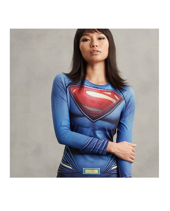 Ladies Supes Long Sleeve Compression Shirt #Superhero #Shirts #SuperGirlShirt #leggings #Specialsale
