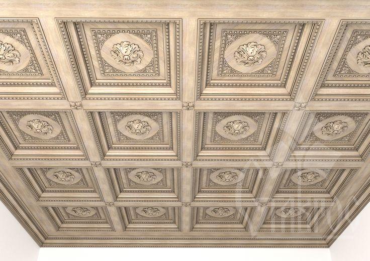 Декорирование потолочных перекрытий с помощью кессонного потолка