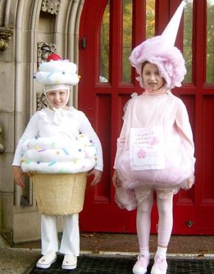 homemade cupcake and cotton candy costume