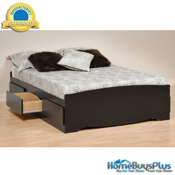 Espresso Queen Mate S Platform Storage Bed With  Drawers B