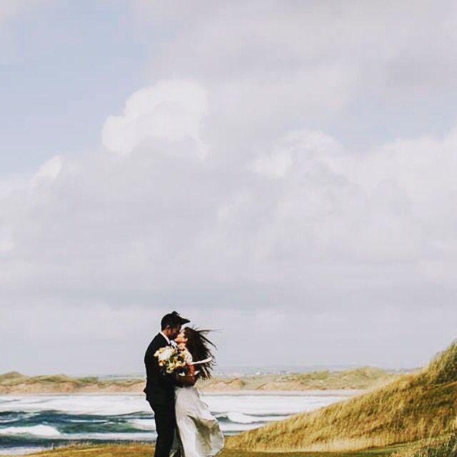 Beautiful #edwinaaryabride Fionnualla on her wedding day in the west of Ireland. #edwinaarya