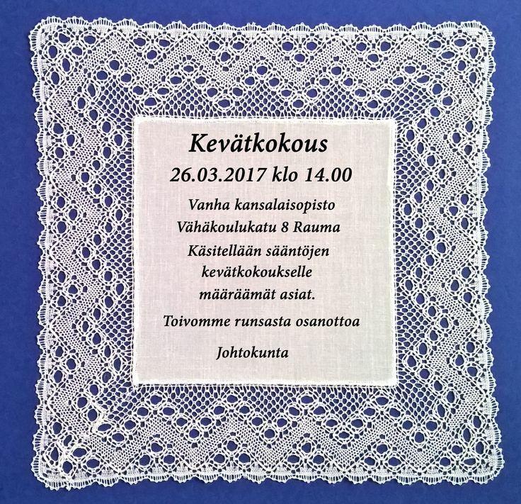 Sääntömääräinen kevätkokous - kutsu - Nyplääjät ry