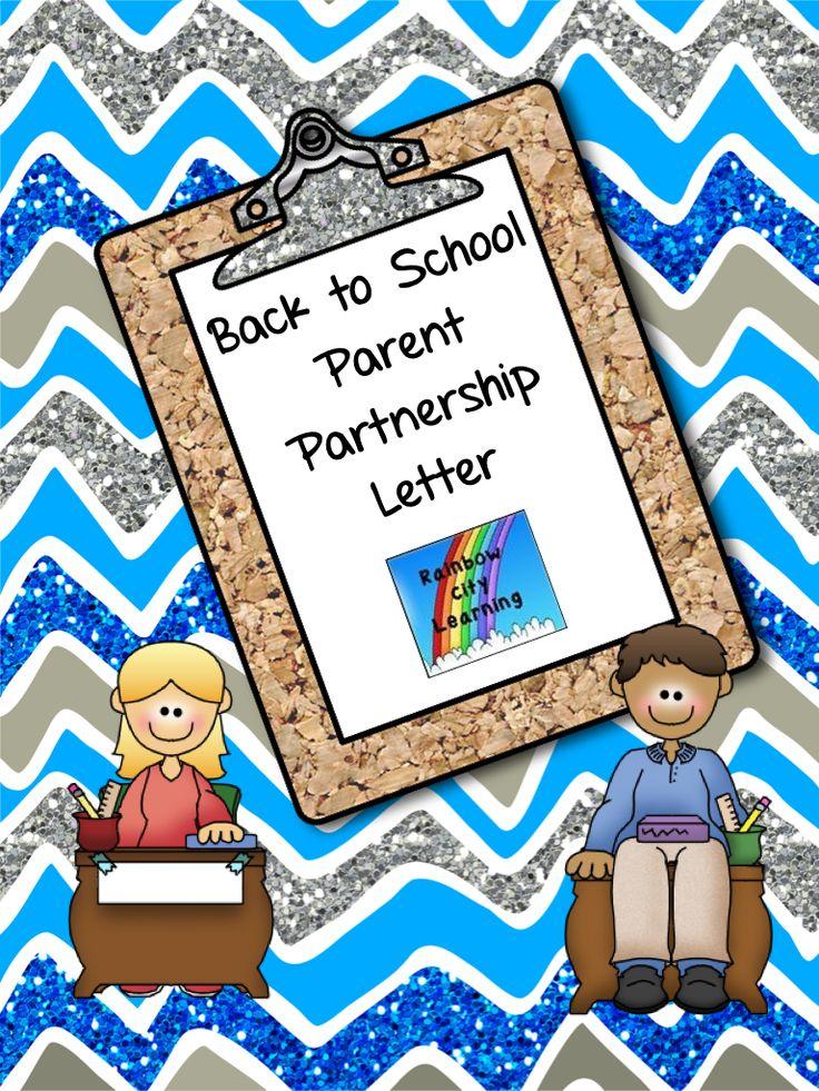 Back to school parent partnership letter parent