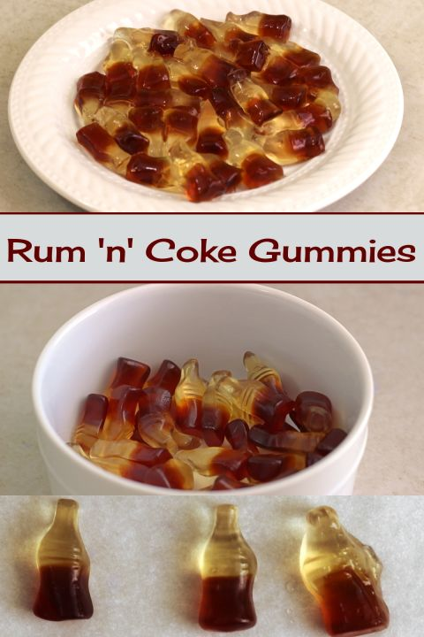 These cola flavored gummy bears soaked in rum actually taste a bit like a Rum 'n' Coke. They make a great treat for parties, or as a gift.