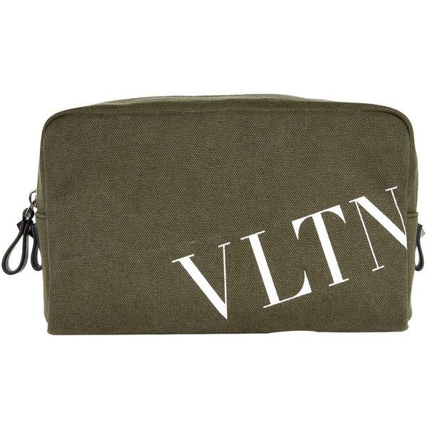 Valentino Logo Print Wash Bag (2207050 PYG) ❤ liked on Polyvore featuring beauty products, beauty accessories, bags & cases, toiletry bag, toiletry kits, make up purse, wash bag and makeup bag case