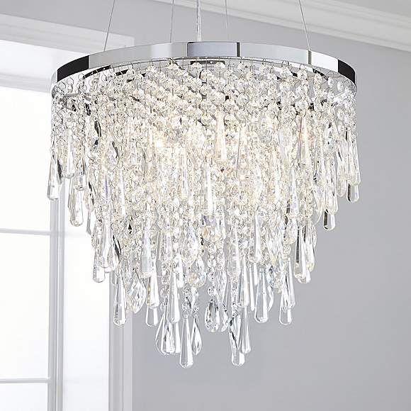 Monroe Crystal Fitting Chrome Dunelm Ceiling Lights Ceiling Pendant Lights Light Fittings