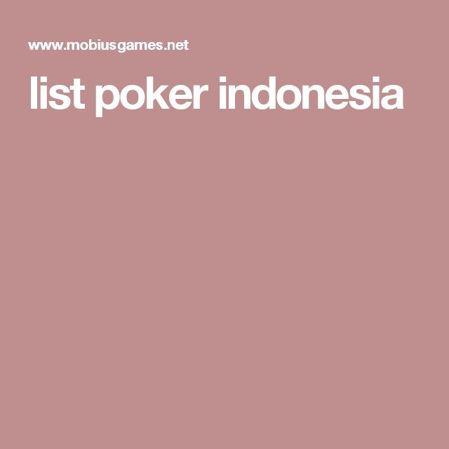 list poker indonesia