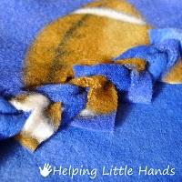 braided fleece blanket no sew!