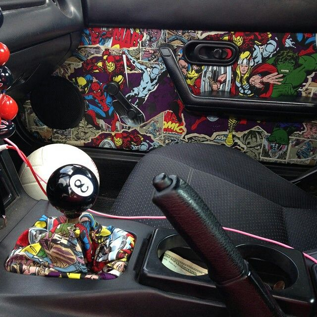 Custom Miata Interior. Marvel Universe!!