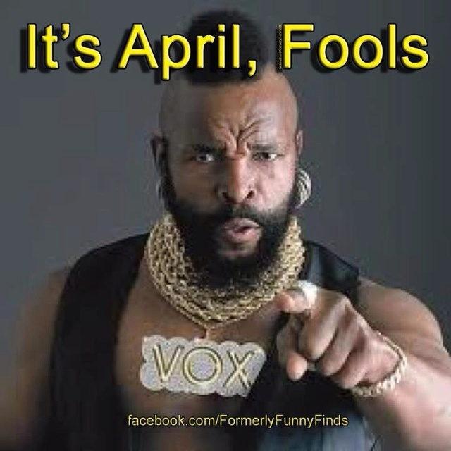 It's April!