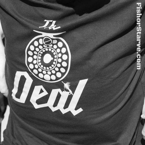 The Reel deal fly fishing shirt  Men's gift item by FishorStarve, $20.00