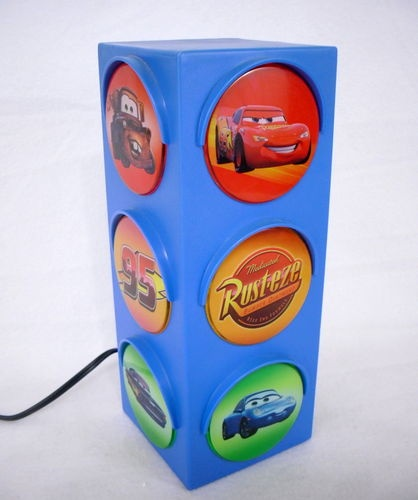 Disney Cars Blue Traffic Stop Street Light Bedroom Playroom Lamp