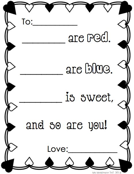 71 best poetry writing for primary grades images on pinterest poem prompt for februaryvalentines day everything you need to set up your writing pronofoot35fo Images