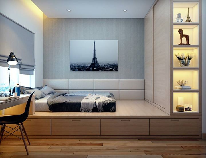 Marcenaria; Nichos Na Lateral Do Armário; Cama Com Gavetas;. Design  BedroomBedroom IdeasBedroom StoragePlatform BedInterior Design