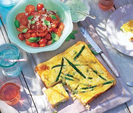 Sideless asparagus quiche | ASDA Recipes
