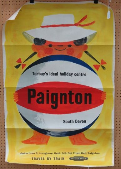 Paignton British railways poster Tom Eckersley 1950s