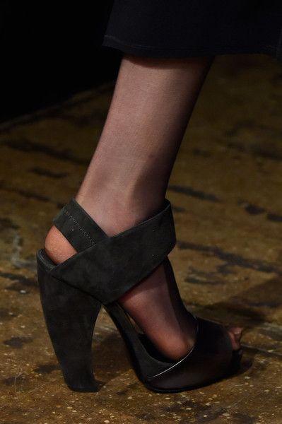 LSC | Style - Donna Karan Fall 2015 NYFW- Strappy curved heel. Luxuryshoeclub.com