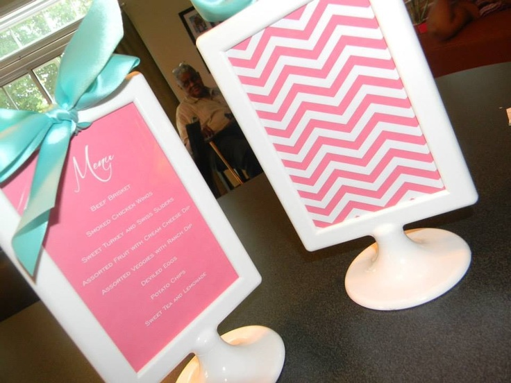 Menu Cards made using the Ikea Tolsby Frames. | Cadre ... - Cadre 40X60 Ikea