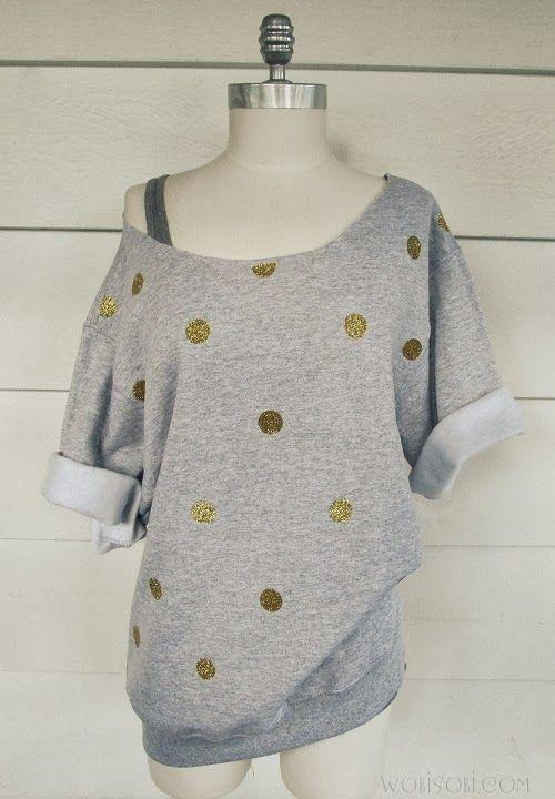 Glitter, Polka- dot Holiday Sweatshirt