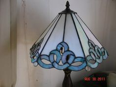 Stained Glass Ribbon Panel Lamp by twillobee on Etsy, $240.00