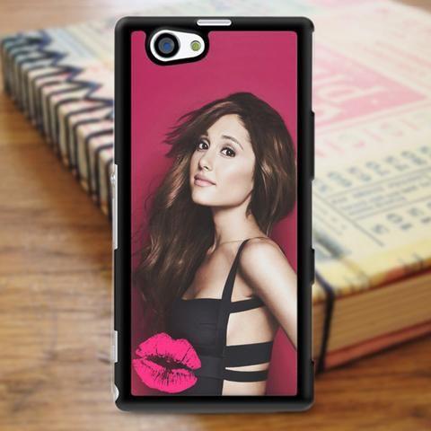 Ariana Grande Pink Kiss Sony Experia Z3 Case