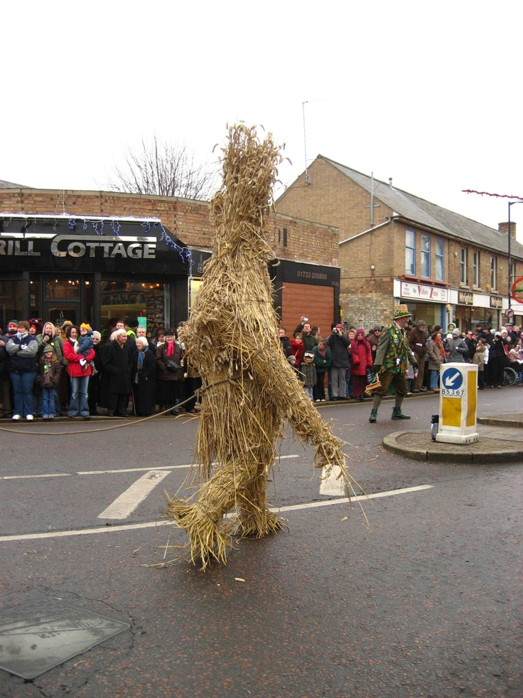 Straw Bear festival. Whittlesey.
