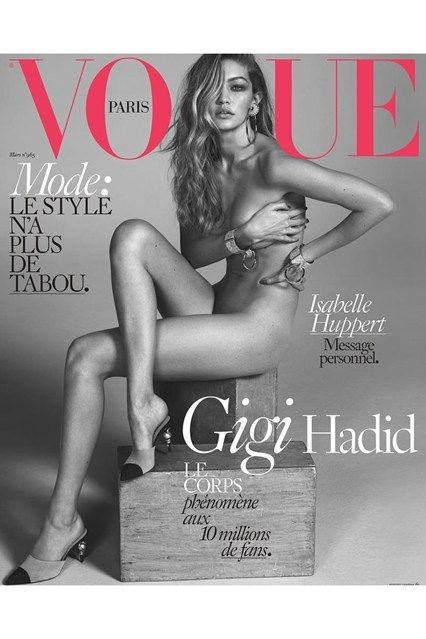 Gigi Hadid Vogue Covers - Pictures of Model (Vogue.co.uk)