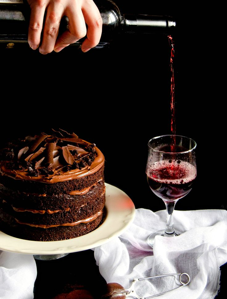 La cucina italiana red wine chocolate cake