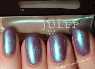 Julep nail polish Melissa over Julep nail polish Charlotte (ooh! I have both. This is gorg! Must try)