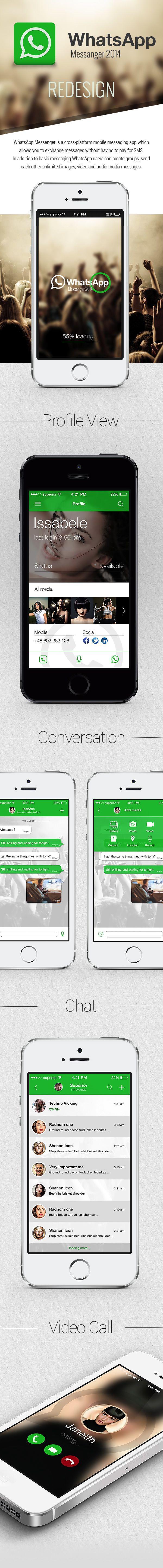 WhatsApp Redesign on Behance