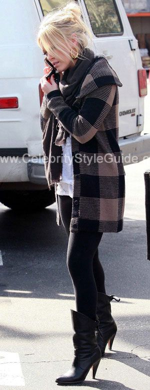 Hilary Duff Style and Fashion - Opening Ceremony All Occasion Cardigan - Celebrity Style Guide