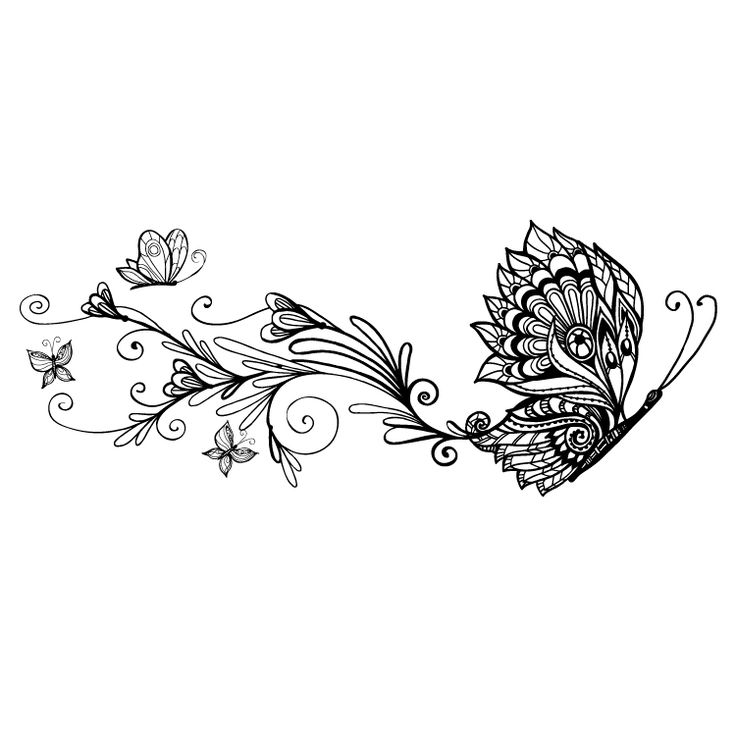 Butterfly Temporary Tattoo #802