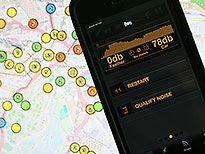 Die Lärm-App erfasst den Geräuschpegel, der Wert wird auf einer Online-Karte exakt vermerkt. (Bild:  hr-online)