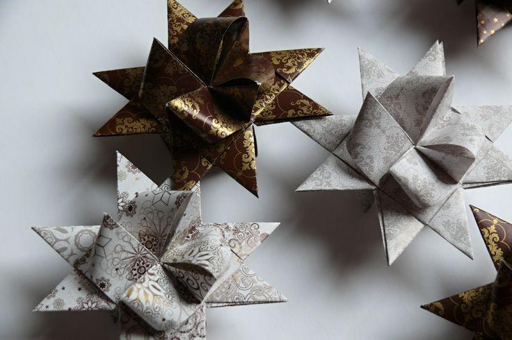 Vánoční+hvězdičky+velikost+7+cm,+cena+za+sadu+8+ks