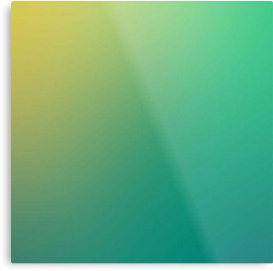 Grün bis gelb verlaufender hintergrund | Metalldruck