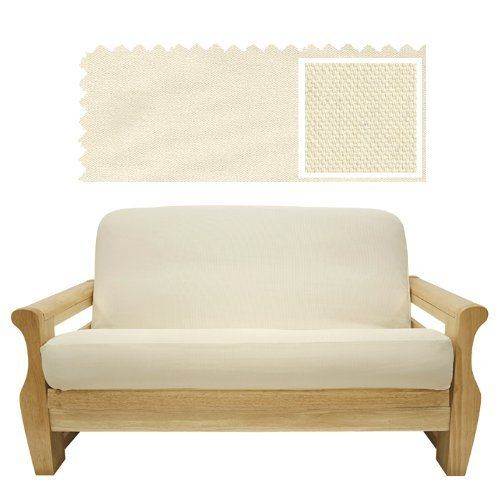 Solid Cream Futon Cover Twin 257 by SlipcoverShop. $55.00. In Stock - Ships within 2 days. Made in USA.. See Sizing and Product Description below. Made to fit Twin size futon mattress measuring 39 inches wide, 75 inches long and up to 8 inches thick. Futon cover features 3 sided, concealed zipper construction. Made in USA. Solid Cream fabric is made from upholstery grade duck and will last the test of time. Featured in natural cream color that easily coordinates with a varie...