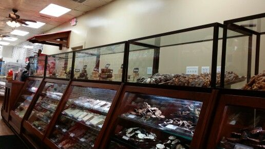 Custom glass Market Street Sweets