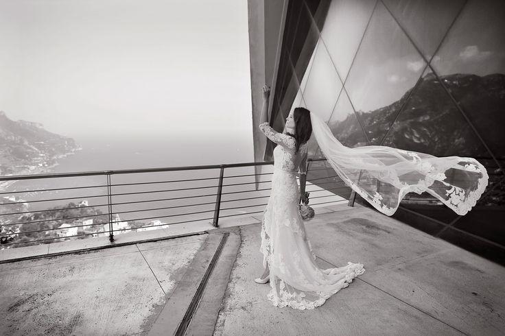 bride, Wedding Day, peach, green and white colors, Hotel Bonadies, ravello, Olga Studio, Sposa Mediterranea, Federica Wedding Planner