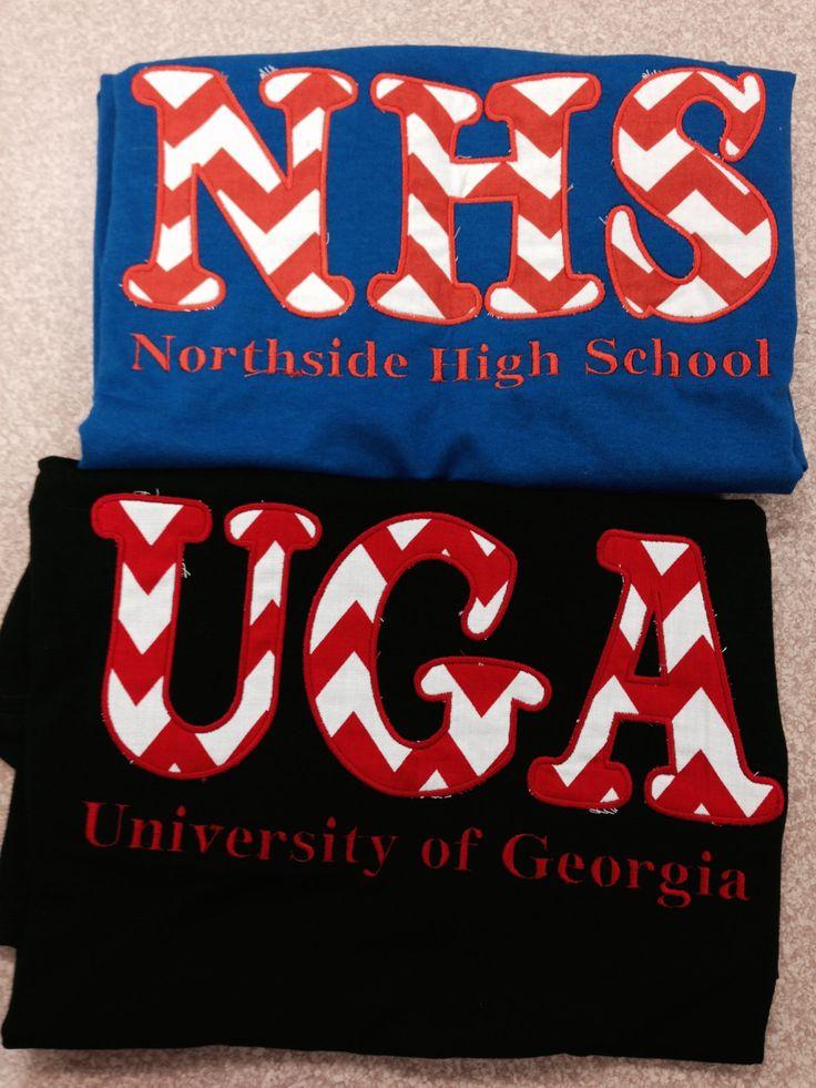 School Spirit Appliqué Shirts by LittleRedHenSewing on Etsy