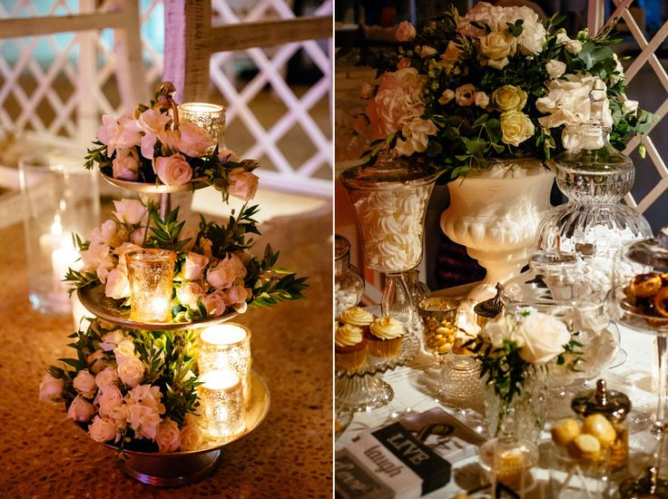Details of a fairytail welcome table  <3  Candles, roses and candies!