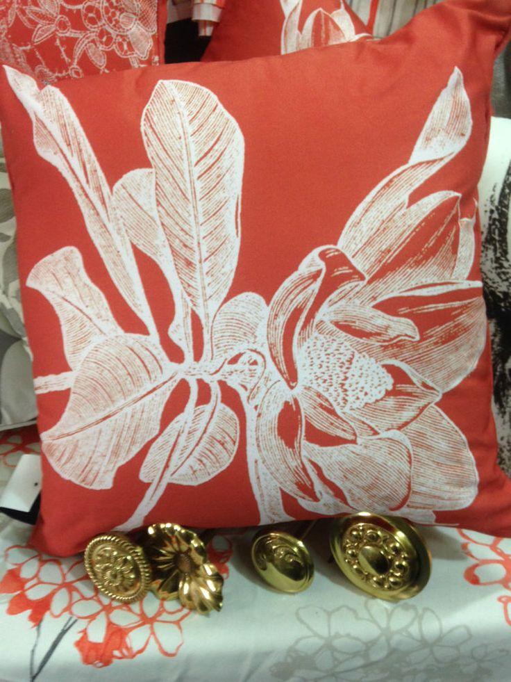 Zaab Homewares Gorgeous Cushion-Hot Orange -45cm x 45 cm with Zip