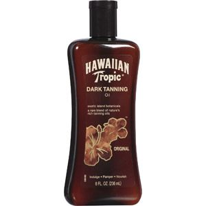 Hawaiian Tropic Original Dark Tanning Oil, 8 oz I use this as after-sun care and it always keeps me from peeling and turns my burn into a tan fast.