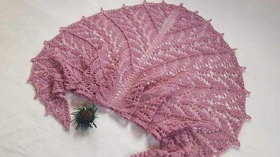 Beauty gift Gift for girlfriend Hand Knit Lace wrap shawl Gift